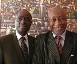 Djibril Baba Tabouré, directeur d'African Trans Services, et Prince Emmanuel Ngassa Happi, président exécutif de la Fisavet/AOC