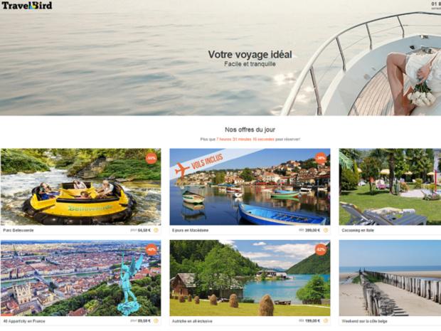 TravelBird vend des séjours à bas prix en France - Capture d'écran