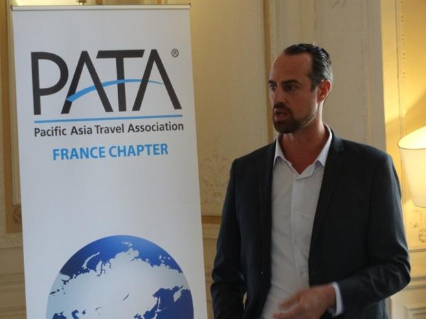 Guillaume Linton (Asia) est le Président du chapitre France de PATA - Photo J.B.H.