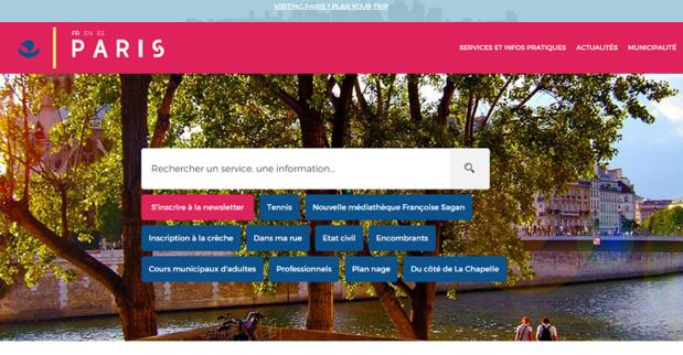 Le nouvelle version de Paris.fr est en ligne depuis mercredi 24 juin 2015 - Capture d'écran