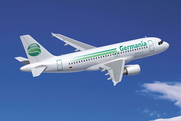 The company Germania operates a fleet of 22 aircrafts. DR-Germania