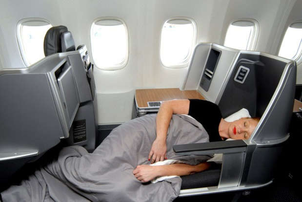 The new bed of the business cabin will be progressively set up on all of the fleet of American Airlines - DR: American Airlines