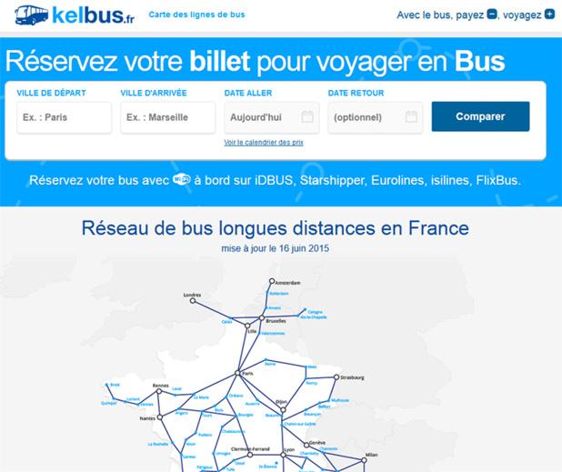 Autocar : KelBillet lance KelBus.fr