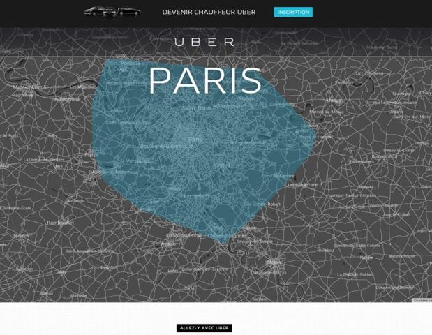 """La préfecture de police de Paris vient de publier un arrêté interdisant l'utilisation des """"systèmes de mise en relation de clients avec des chauffeurs de véhicule - Capture d'écran UberPop"""