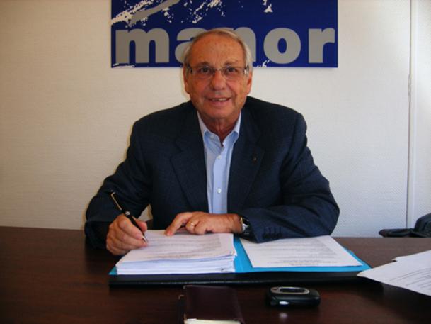 Jean Korcia a été réélu pour 3 ans au poste de président de Manor - DR