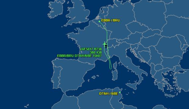 Le site FlightAware.com permet de suivre, en direct, le trajet des avions - Capture d'écran
