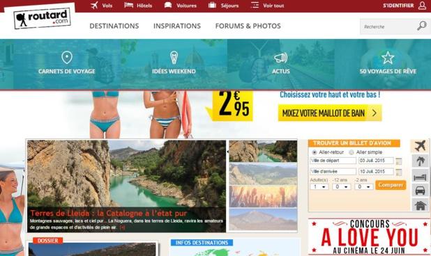 La nouvelle interface du site du Routard espère améliorer l'expérience de l'internaute et mettre en avant les offres de ses partenaires. DR-site du Routard.