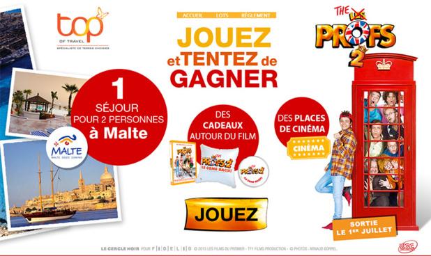 Grand jeu concours organisé par Top Of travel dans le cadre de la sortie du film Les Profs 2 - DR