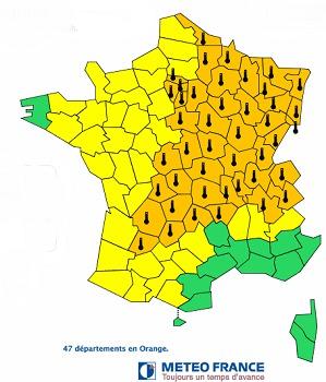 L'alerte canicule concerne 47 départements français - DR : Météo France