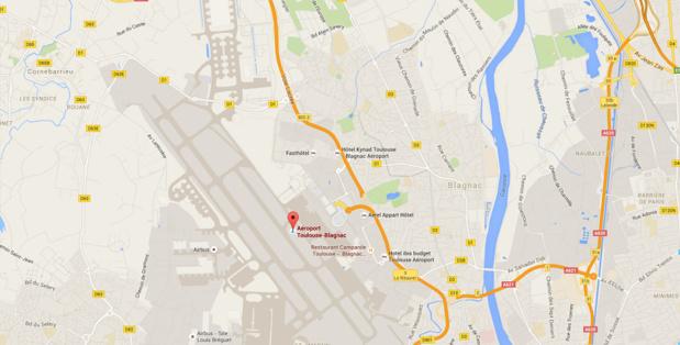 La société qui a racheté le capital de l'aéroport de Toulouse-Blagnac est une coquille vide - DR : Google Maps