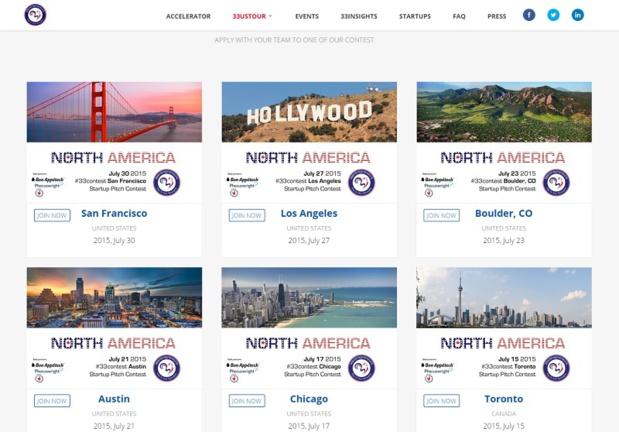 Concours start-ups : 33entrepreneurs part à la conquête de l'Amérique