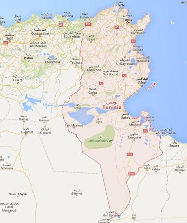 L'état d'urgence concerne l'ensemble du territoire tunisien - DR : Google Maps