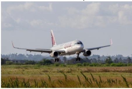 Le premier vol de Qatar Airways en provenance de Doha s'est posé à Zanzibar le 1er juillet 2015 - Photo : Qatar Airways