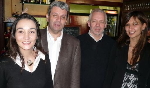 (cliquer pour agrandir) de g. à dte :Laetitia MENGUAL, Philippe BEISSIER, Alain SARLET et Aurélie MENDUNI  - photo D. Juan (Côte)