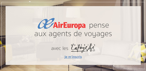 Air Europa lance un jeu concours pour les agents de voyages