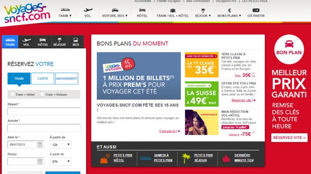 Capture d'écran Voyages-SNCF.com