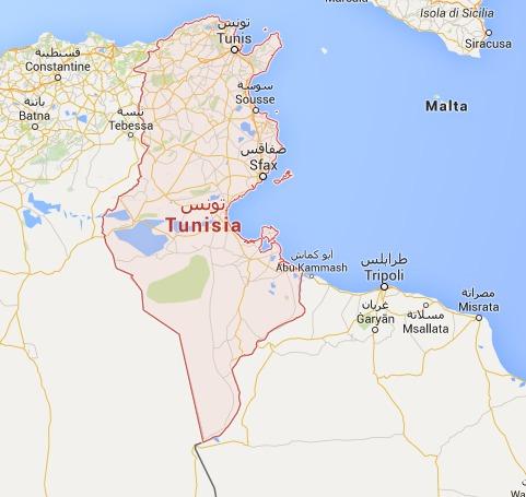 Les voyageurs danois sont invités à quitter la Tunisie au plus vite - DR : Google Maps