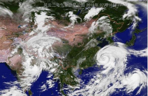 Le typhon Chan-Hom se rapproche des côtes chinoise - DR : Weather.com.cn