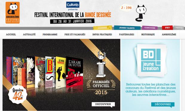La prochaine édition du FIBD d'Angoulême se tiendra du 28 au 31 janvier 2016 - Capture d'écran