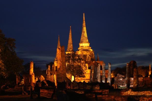 Wat Phra Sri Sanphet, le plus beau temple de la ville d'Ayutthaya, fait partie des monuments à visiter absoluement pour Christine Crispin - DR : Wikipedia Wolfgang Sladkowski