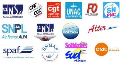 Tous les syndicats d'Air France ont signé le communiqué - DR