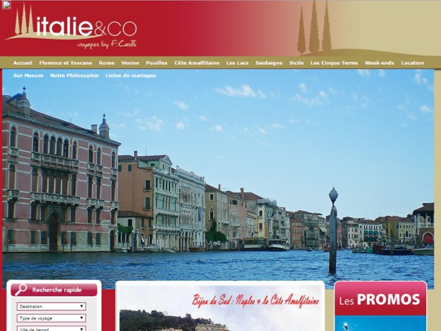 Italie & Co is adapting to confront the multiplication of players on the Italian market - Screenshot