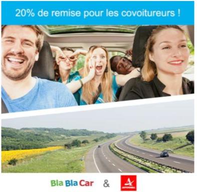 L'offre est disponible jusqu'au 30 juin 2016 - DR : BlaBlaCar et Autogrill France