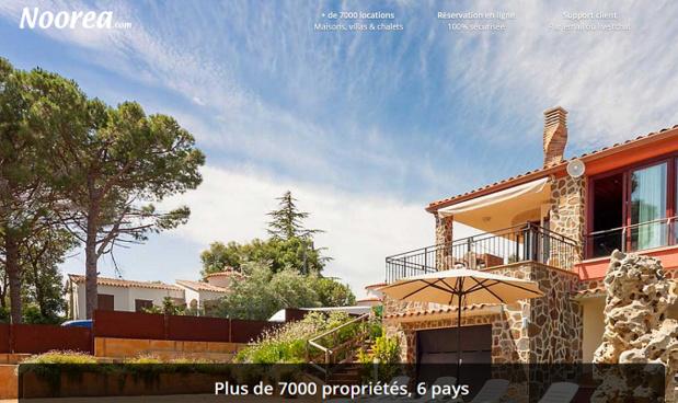 La nouvelle plateforme Noorea Villas est en ligne depuis juin 2015 - Capture d'écran