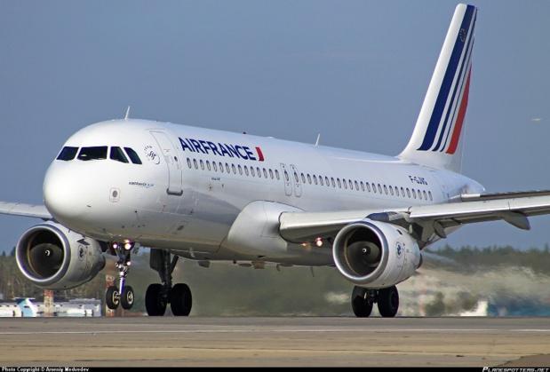 Un Airbus A320 d'Air France a été retrouvé tagué de l'inscription Allah Akbar à l'aéroport de Casablanca. DR