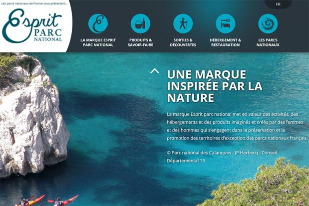 Le site dédié à Esprit Parc National qui regroupe tous les parcs nationaux français - Capture écran