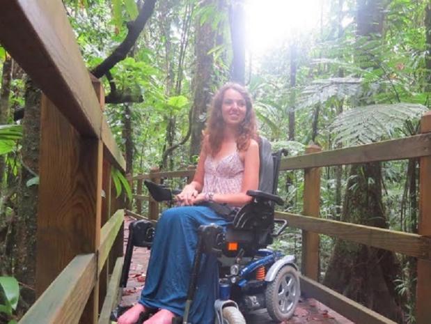 """Audrey Barbaud, une blogueuse voyageuse pleine de vie, a créé """"Roulettes et sac à dos - DR"""
