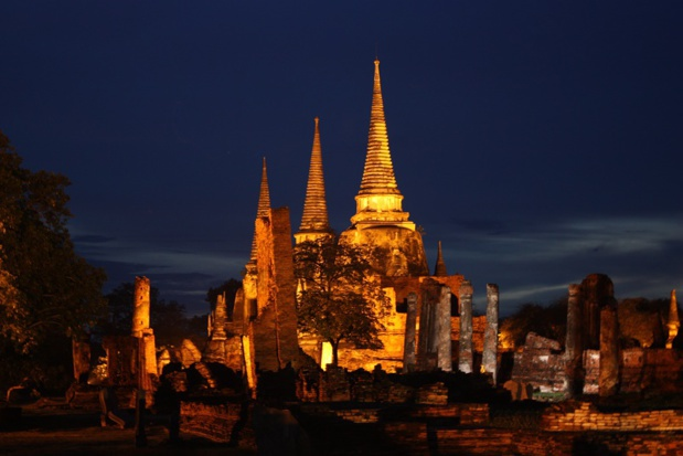 Wat Phra Sri Sanphet, the most beautiful temple of the city of Ayutthaya, is one of the must-see monuments according to Christine Crispin - DR : Wikipedia Wolfgang Sladkowski