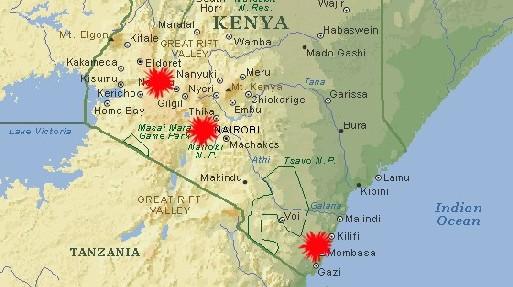 Les zones déconseillées sont en rouge sur la carte