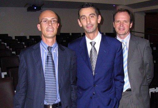 De gauche à droite : David Nizan, Philippe Etourneau, Serge Guiseppin