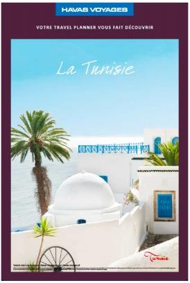 Les agences de voyages Havas soutiennent la Tunisie dans leurs vitrines - DR : Havas Voyages