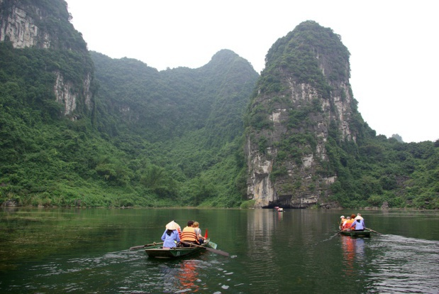 "Twins of the famous Ha Long Bay and its famous sugar loaf mountains, the site of Trang An provides an astonishing landscape of cliffs, calcareous pitons, and Karst caves. To the extent that it is named a ""terrestrial Ha Long Bay."" - DR: J.-F. R."