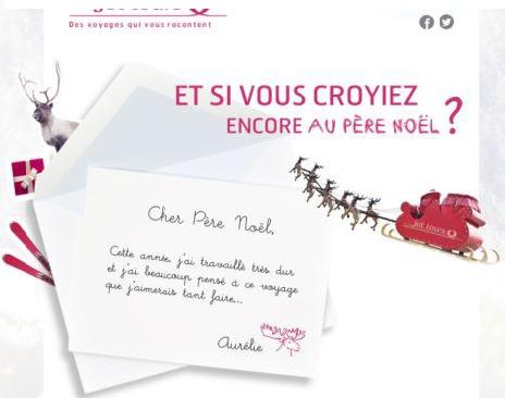 Jet tours lance un concours de lettres au Père Noël pour les agents de voyages - DR : Jet tours