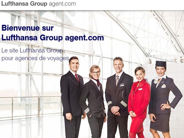 Lufthansa met un site à la disposition des agents de voyages qui ne veulent pas payer les frais supplémentaires par GDS - Capture d'écran