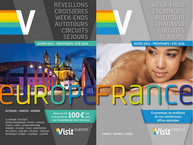 Visit Europe publishes its Europe, France, and Festivities brochures for Winter and Spring 2015/2016 - DR: Visit Europe