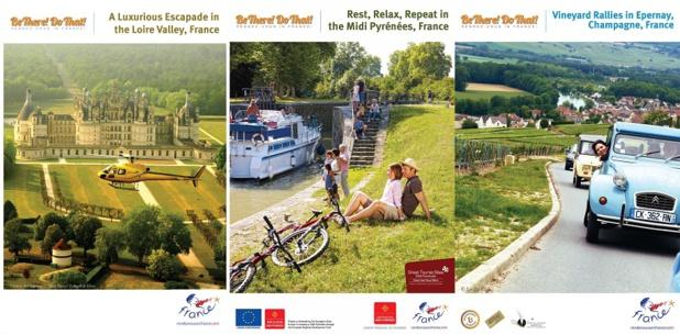 Les visuels de la campagne d'Atout France en Inde - DR : Atout France