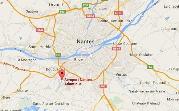 L'aéroport Nantes Atlantique développe ses offres en ligne - DR : Google Maps