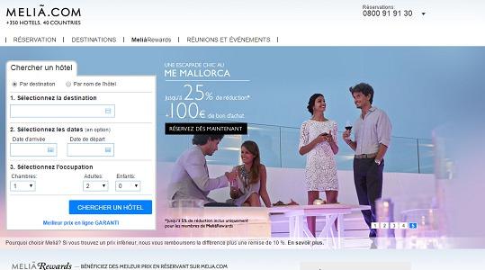 Melia Hotels cherche à se renforcer sur le segment du MICE - Capture d'écran