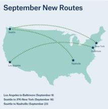 Alaska Airlines ouvre 3 nouvelles lignes