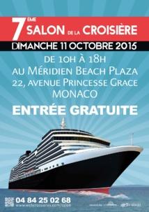 Monaco : le 7ème salon de la Croisière prévu le 11 octobre 2015