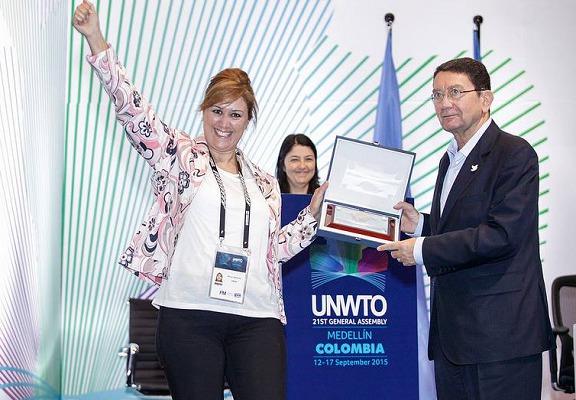 La Tunisie a reçu son prix à l'occasion de l'Assemblée générale de l'Organisation Mondiale du Tourisme - Photo : ONTT