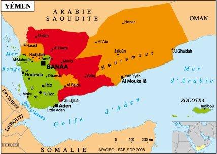 La carte de l'Espace Conseils aux voyageurs du site du Quai d'Orsay au 18/01. En rouge : zone formellement déconseillée. En orange : zone déconseillée sauf pour raison professionnelle impérative.