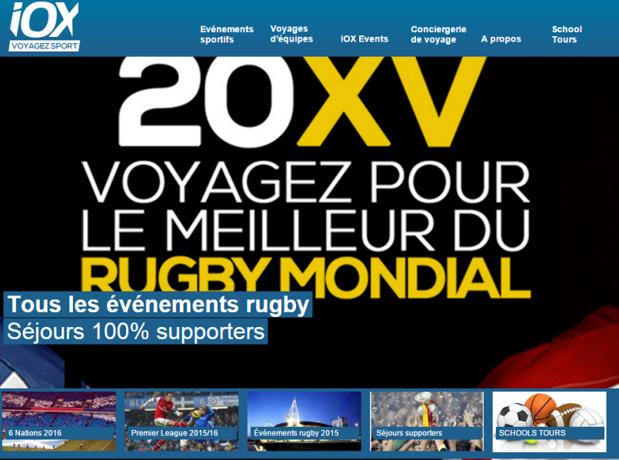 Malgré son probable dépôt de bilan, IOX Tour continue de vendre des séjours autour de grands événements sportifs pour la saison 2015/2016 - Capture d'écran