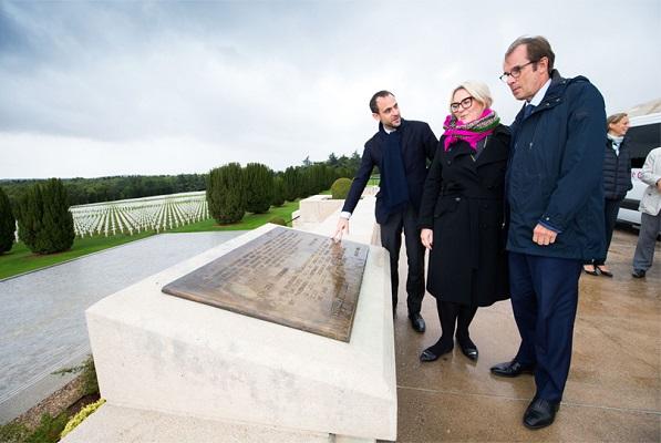 Petra Hedorfer et Christian Mantei réunis à Verdun - Photo DR