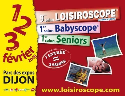Loisiroscope partage l'affiche avec le 1er Babyscope et le 1er salon Seniors