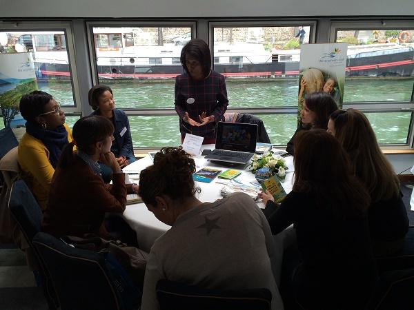 Les partenaires d'Austral Lagons ont présenté leurs offres aux agents de voyages répartis par groupes de 8 - Photo : Austral Lagons